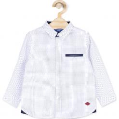 Koszula. Białe koszule chłopięce z długim rękawem marki ELEGANT BABY BOY, z bawełny, z klasycznym kołnierzykiem. Za 39,90 zł.