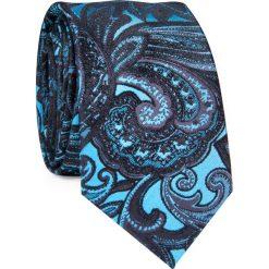 Krawat KWWR000352. Niebieskie krawaty męskie Giacomo Conti, z jedwabiu. Za 129,00 zł.