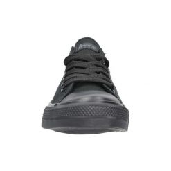 Buty American  Czarne trampki sznurowane  LH-18-DSLN/A-01. Czarne trampki i tenisówki damskie American. Za 49,99 zł.