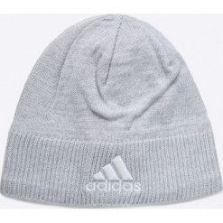 Adidas Performance - Czapka. Szare czapki zimowe damskie marki adidas Performance, na zimę, z dzianiny. W wyprzedaży za 49,90 zł.