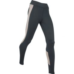 Legginsy sportowe wyszczuplające, długie, Level 2 bonprix czarno-szary. Czarne legginsy sportowe damskie bonprix, w paski. Za 109,99 zł.