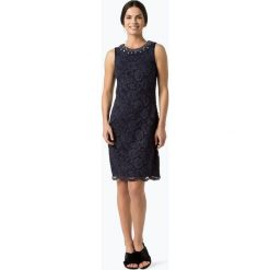 Marie Lund - Damska sukienka koktajlowa, niebieski. Niebieskie sukienki balowe marki Marie Lund, na imprezę, w koronkowe wzory, z koronki, z krótkim rękawem, mini. Za 349,95 zł.
