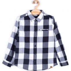 Koszula. Czarne koszule chłopięce z długim rękawem MONOCHROME, z bawełny. Za 49,90 zł.