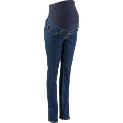 """Dżinsy ciążowe STRAIGHT bonprix ciemnoniebieski """"stone"""". Niebieskie jeansy damskie bonprix, moda ciążowa. Za 59,99 zł."""