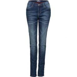 Jeansy damskie: Dżinsy ocieplane ze stretchem BOYFRIEND bonprix niebieski