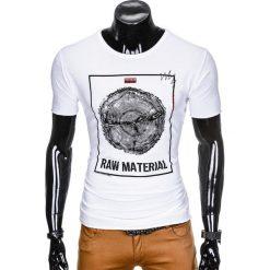 T-SHIRT MĘSKI Z NADRUKIEM S928 - BIAŁY. Czarne t-shirty męskie z nadrukiem marki Ombre Clothing, m, z bawełny, z kapturem. Za 29,00 zł.