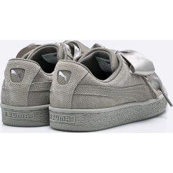 Puma - Buty Suede Heart Pebble Wn's. Szare buty sportowe damskie Puma, z materiału. W wyprzedaży za 299,90 zł.