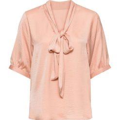 Bluzki damskie: Bluzka oversize z krawatką bonprix różowy