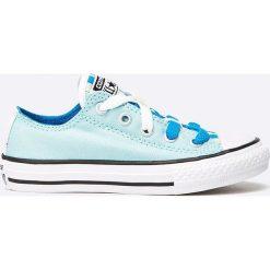 Converse - Tenisówki dziecięce Chuck Taylor Loopholes. Szare buty sportowe dziewczęce Converse, z gumy, na sznurówki. W wyprzedaży za 129,90 zł.