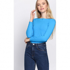 Jasnoniebieska Bluzka Trust Me. Niebieskie bluzki damskie Born2be, l, z długim rękawem. Za 29,99 zł.