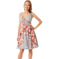 Sukienki hiszpanki: Sukienka w kolorze niebiesko-koralowym