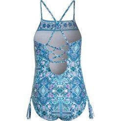 Stroje jednoczęściowe dziewczęce: Seafolly HIGH NECK TANK Kostium kąpielowy light blue