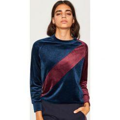 Bluza o aksamitnym połysku - Fioletowy. Fioletowe bluzy damskie marki Reserved, l, z kapturem. Za 69,99 zł.