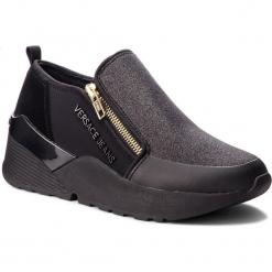 Sneakersy VERSACE JEANS - E0VSBSL3 70832 899. Czarne sneakersy damskie Versace Jeans, z jeansu. Za 699,00 zł.