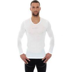 Bluzki sportowe damskie: Brubeck Koszulka unisex z długim rękawem biała r. XL (LS10850)