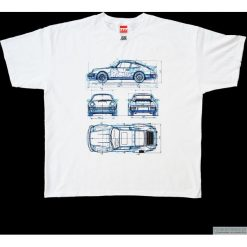 Koszulka T - PORSCHE 911. Czarne bluzki z odkrytymi ramionami marki Pakamera, m, z kapturem. Za 77,00 zł.