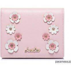 Portfele damskie: JUST STAR Uroczy portfel w kwiatki Różowy