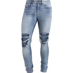 New Look Jeans Skinny Fit mid blue. Czarne jeansy damskie relaxed fit marki New Look, z materiału, na obcasie. Za 139,00 zł.