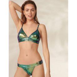Stroje dwuczęściowe damskie: Bikini z holograficznym połyskiem - Turkusowy