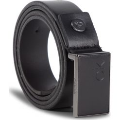 Pasek Męski CALVIN KLEIN - 3Cm Adj.Plaque Belt K50K504241 001. Czarne paski męskie Calvin Klein, w paski, ze skóry. Za 279,00 zł.