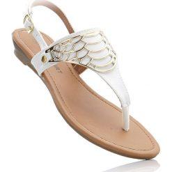 Sandały japonki bonprix biały. Białe klapki damskie bonprix. Za 69,99 zł.