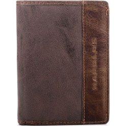 Portfele męskie: Skórzany brązowy mocny męski portfel HAROLD`S