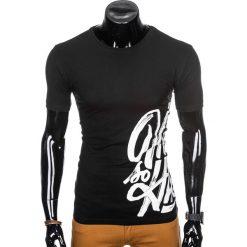 T-SHIRT MĘSKI Z NADRUKIEM S992 - CZARNY. Czarne t-shirty męskie z nadrukiem Ombre Clothing, m. Za 29,00 zł.