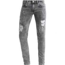 Jeansy męskie regular: 12 Midnight RIPPED Jeans Skinny Fit grey