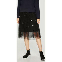 Haily's - Spódnica Alicia. Szare spódniczki rozkloszowane Haily's, l, z elastanu, z podwyższonym stanem, midi. Za 129,90 zł.