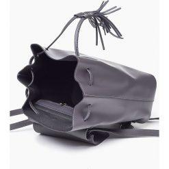 Plecaki damskie: Bordowa Skórzana włoska torba plecak SUSANA