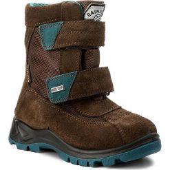 Buty zimowe chłopięce: Śniegowce NATURINO – Barents 0013001228.01.9103 T.Moro/Petrolio Fondo Nero S