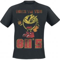 Pac-Man Back To The 80's T-Shirt czarny. Czarne t-shirty męskie z nadrukiem Pac-Man, l, z okrągłym kołnierzem. Za 74,90 zł.