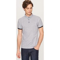 Koszulki polo: Koszulka polo z printem all over – Granatowy