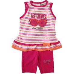 Spodnie niemowlęce: 2-częściowy zestaw w kolorze jasnoróżowym