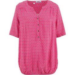 Tunika, krótki rękaw bonprix różowy hibiskus wzorzysty. Czerwone tuniki damskie bonprix, z krótkim rękawem. Za 59,99 zł.