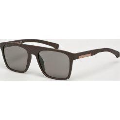 Calvin Klein - Okulary CKJ798S. Brązowe okulary przeciwsłoneczne męskie marki Calvin Klein, z materiału. Za 479,90 zł.