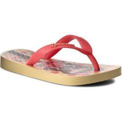 Japonki IPANEMA - Classic IV Kids 81713 Yellow/Pink Neon 24148. Czerwone klapki chłopięce marki Ipanema, z tworzywa sztucznego. Za 39,00 zł.