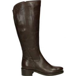 Kozaki - PEARL1838 DKT. Żółte buty zimowe damskie marki Venezia, ze skóry. Za 419,00 zł.