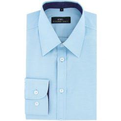 Koszula MARCO 16-03-04-K. Niebieskie koszule męskie na spinki marki bonprix, m, z nadrukiem, z klasycznym kołnierzykiem, z długim rękawem. Za 149,00 zł.