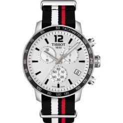 PROMOCJA ZEGAREK TISSOT T -SPORT T095.417.17.037.01. Białe zegarki męskie TISSOT, ze stali. W wyprzedaży za 1434,40 zł.