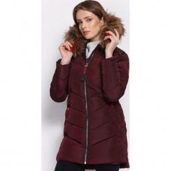 Bordowa Kurtka Adroit. Czerwone kurtki damskie Born2be, na zimę, l, z kapturem. Za 189,99 zł.