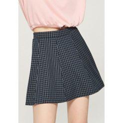 Spódniczki: Żakardowa spódnica w kratkę - Granatowy