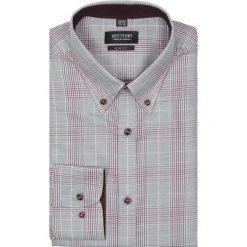 Koszula croft 2193 długi rękaw slim fit róż. Czerwone koszule męskie jeansowe marki Recman, m, w kratkę, button down, z długim rękawem. Za 29,99 zł.