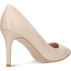 Czółenka SAVONA. Brązowe buty ślubne damskie Gino Rossi, ze skóry, na wysokim obcasie, na szpilce. Za 224,95 zł.