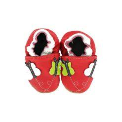BaBice Buciki do raczkowania Motylek kolor czerwony. Czerwone buciki niemowlęce BABICE, ze skóry. Za 69,00 zł.
