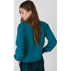 Bluzy rozpinane damskie: NA-KD Urban Bluza Cool Girl - Green,Turquoise
