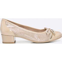 Caprice - Czółenka. Szare buty ślubne damskie marki Caprice, z gumy, z okrągłym noskiem, na szpilce. W wyprzedaży za 179,90 zł.