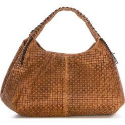 Torebki klasyczne damskie: Skórzana torebka w kolorze brązowym – 43 x 38 x 20 cm