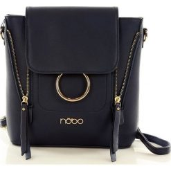 Plecaki damskie: NOBO Elegancka torebka – plecak granatowy
