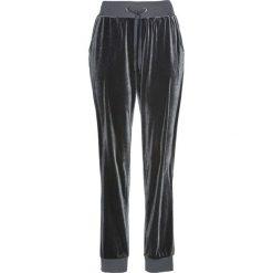 Spodnie dresowe aksamitne bonprix szary. Szare spodnie sportowe damskie bonprix, z dresówki. Za 89,99 zł.